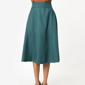 UV Vivien Swing Skirt in Emerald Green